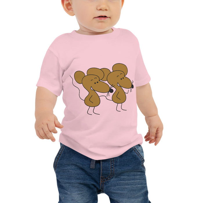 Pecan And Walnut Mice |Baby Jersey Short Sleeve T Shirt | Sizes 6-24 Months