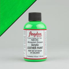 Angelus Neon Leather Paint 4oz - Amazon Green - Street Lab UK