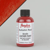 Angelus Leather Paint 4oz - Autumn Red - Street Lab UK