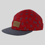 Entree The Bear 5 Panel Cap - Burgundy - Street Lab UK - 2