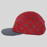 Entree The Bear 5 Panel Cap - Burgundy - Street Lab UK - 3