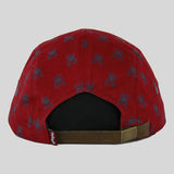 Entree The Bear 5 Panel Cap - Burgundy - Street Lab UK - 4