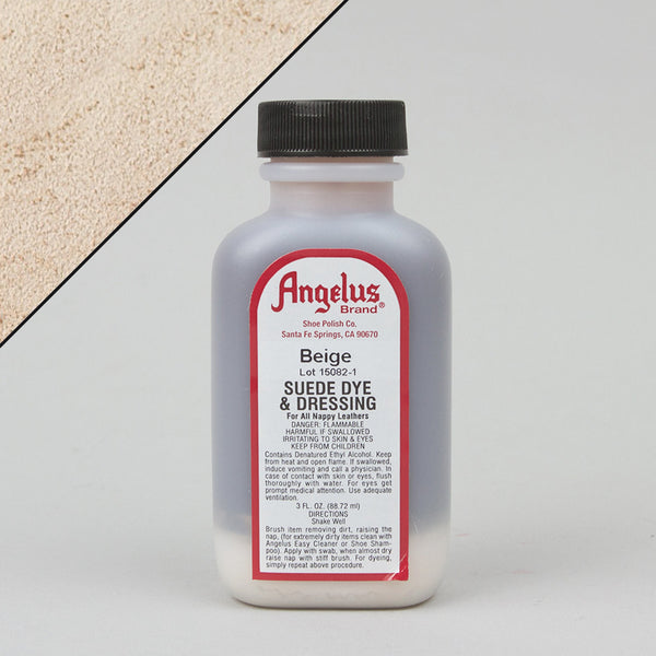 Angelus Leather Paint & Dyes - Beige Suede Dye 3oz - Street Lab UK