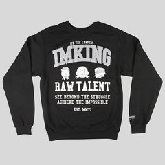 IMKING Patchwork Crewneck Sweater - Black - Street Lab UK - 1