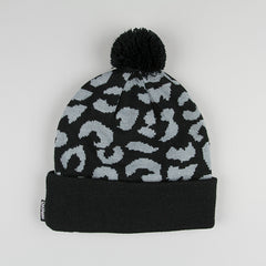 Cast Shadow Gato Jacquarded Knit Beanie - Black - Street Lab UK - 1