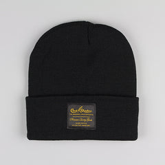 Cast Shadow Gold Label Beanie - Black - Street Lab UK - 1