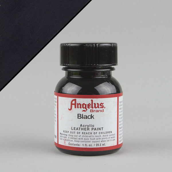 Angelus Leather Paint 1oz - Black - Street Lab UK