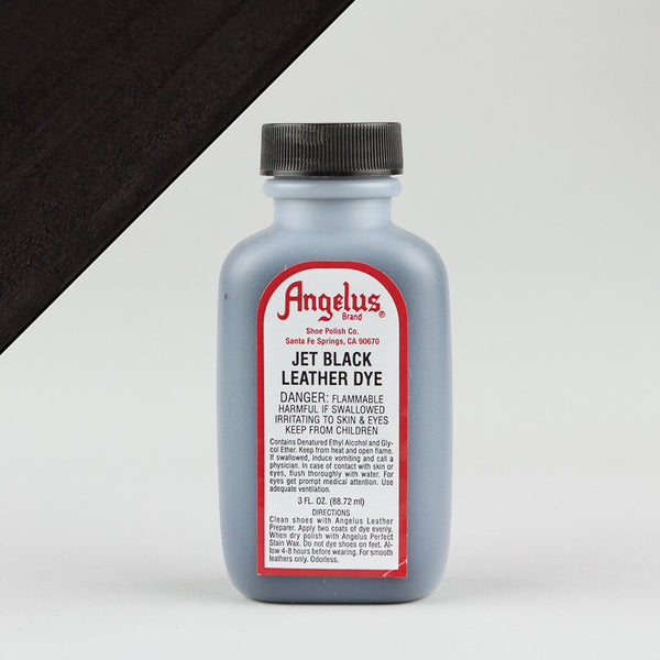 Angelus Leather Paint & Dyes - Jet Black Leather Dye 3oz - Street Lab UK