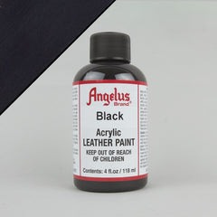 Angelus Leather Paint 4oz - Black - Street Lab UK