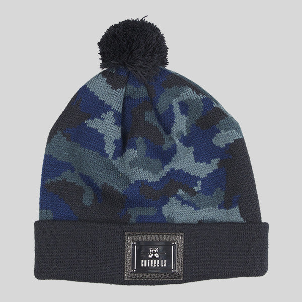 Entree Blue Camo Beanie - Blue & Black - Street Lab UK - 1