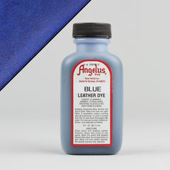 Angelus Leather Paint & Dyes - Blue Leather Dye 3oz - Street Lab UK