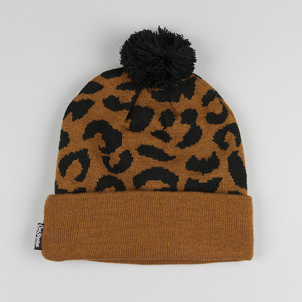 Cast Shadow Gato Jacquarded Knit Beanie - Brown & Black - Street Lab UK - 1