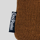 Cast Shadow Gato Jacquarded Knit Beanie - Brown & Black - Street Lab UK - 2