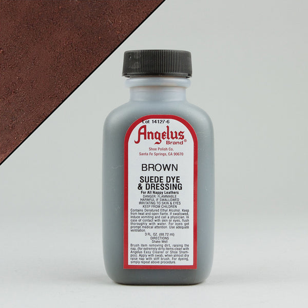 Angelus Leather Paint & Dyes - Brown Suede Dye 3oz - Street Lab UK