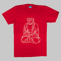 KRSP Buddha T-Shirt - Red - Street Lab UK - 1