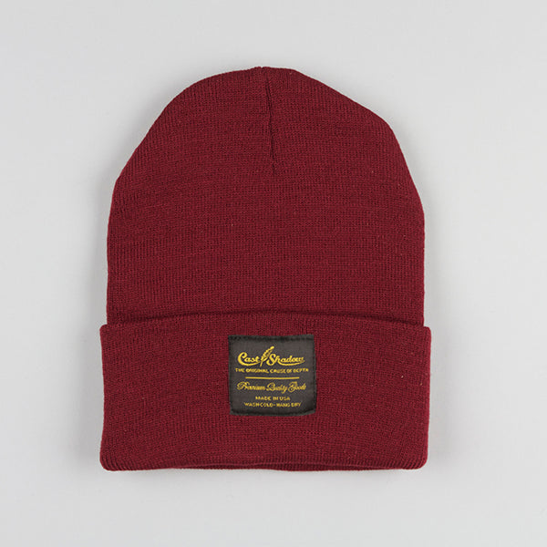 Cast Shadow Gold Label Beanie - Burgundy - Street Lab UK - 1