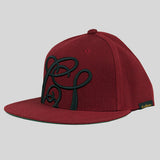 Cast Shadow Quicksand Snapback Cap - Burgundy - Street Lab UK - 2
