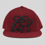 Cast Shadow Quicksand Snapback Cap - Burgundy - Street Lab UK - 1