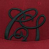 Cast Shadow Quicksand Snapback Cap - Burgundy - Street Lab UK - 3