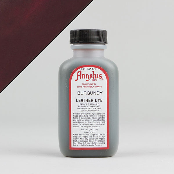 Angelus Leather Paint & Dyes - Burgundy Leather Dye 3oz - Street Lab UK
