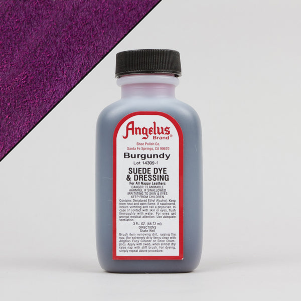 Angelus Leather Paint & Dyes - Burgundy Suede Dye 3oz - Street Lab UK