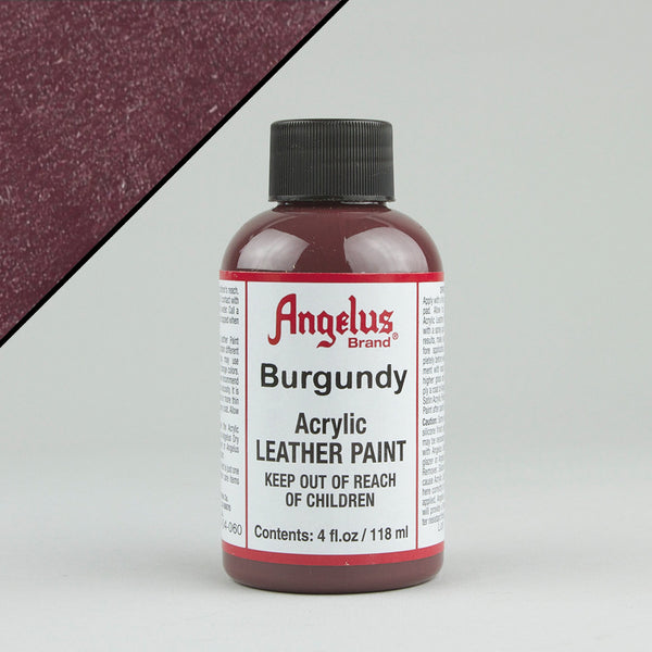 Angelus Leather Paint 4oz - Burgundy - Street Lab UK