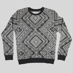 Moss Magic Carpet Crewneck Sweater - Black - Street Lab UK - 1