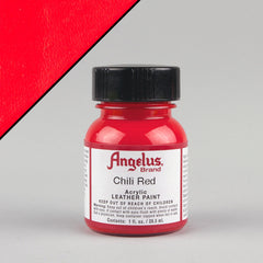 Angelus Leather Paint 1oz - Chili Red - Street Lab UK