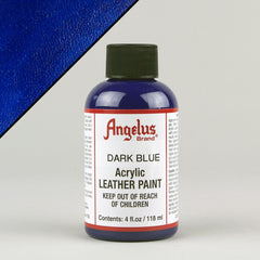 Angelus Leather Paint 4oz - Dark Blue - Street Lab UK