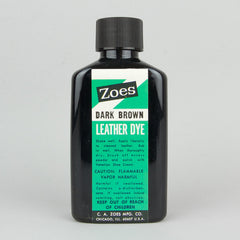 Zoes Leather Dye 74ml (2.5oz) - Dark Brown - Street Lab UK