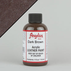 Angelus Leather Paint 4oz - Dark Brown - Street Lab UK