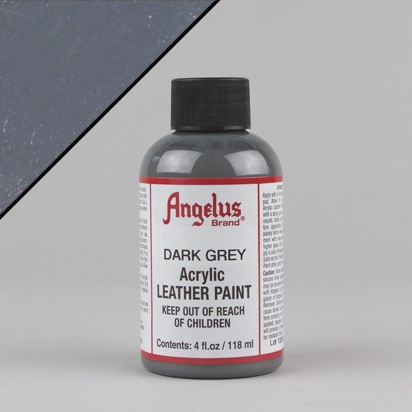 Angelus Leather Paint 4oz - Dark Grey - Street Lab UK
