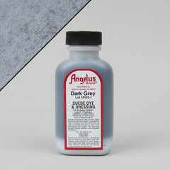 Angelus Leather Paint & Dyes - Dark Grey Suede Dye 3oz - Street Lab UK