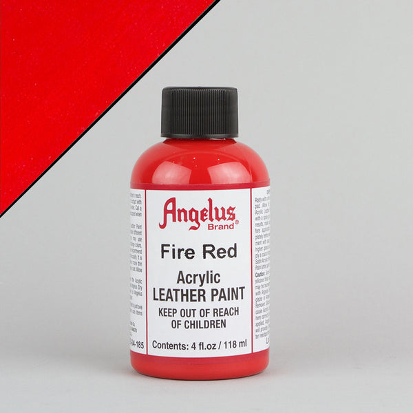 Angelus Leather Paint 4oz - Fire Red - Street Lab UK