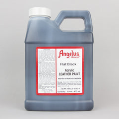 Angelus Leather Paint Pint (472ml) - Flat Black - Street Lab UK