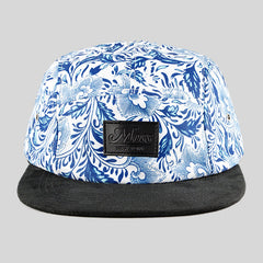 Moss Grapevine 5 Panel Cap - White & Blue - Street Lab UK - 1