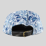 Moss Grapevine 5 Panel Cap - White & Blue - Street Lab UK - 5