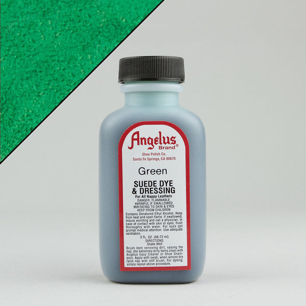 Angelus Leather Paint & Dyes - Green Suede Dye 3oz - Street Lab UK