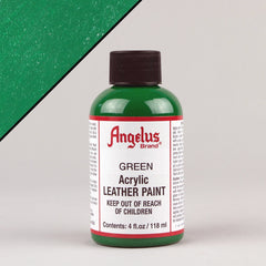 Angelus Leather Paint 4oz - Green - Street Lab UK
