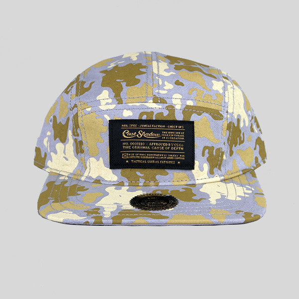 Cast Shadow Global Camo 5 Panel Cap - Grey - Street Lab UK - 1