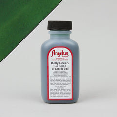 Angelus Leather Paint & Dyes - Kelly Green Leather Dye 3oz - Street Lab UK