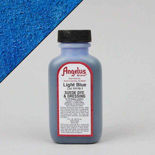 Angelus Leather Paint & Dyes - Light Blue Suede Dye 3oz - Street Lab UK