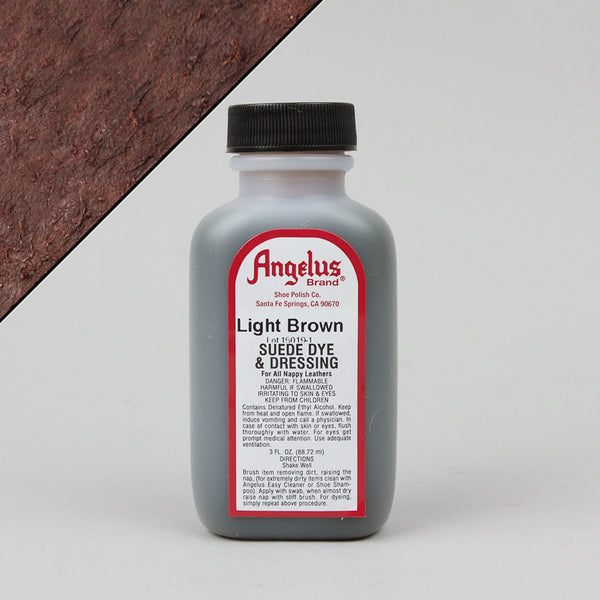 Angelus Leather Paint & Dyes - Light Brown Suede Dye 3oz - Street Lab UK