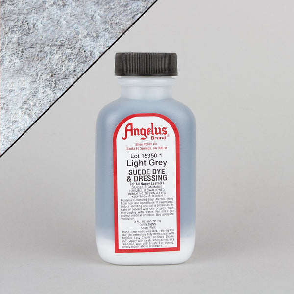 Angelus Leather Paint & Dyes - Light Grey Suede Dye 3oz - Street Lab UK