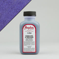 Angelus Leather Paint & Dyes - Lilac Suede Dye 3oz - Street Lab UK