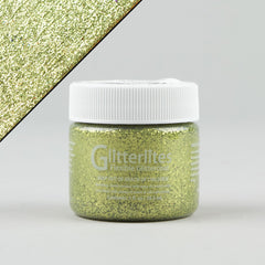 Angelus Glitterlites Leather Paint - Limelite 1oz - Street Lab UK