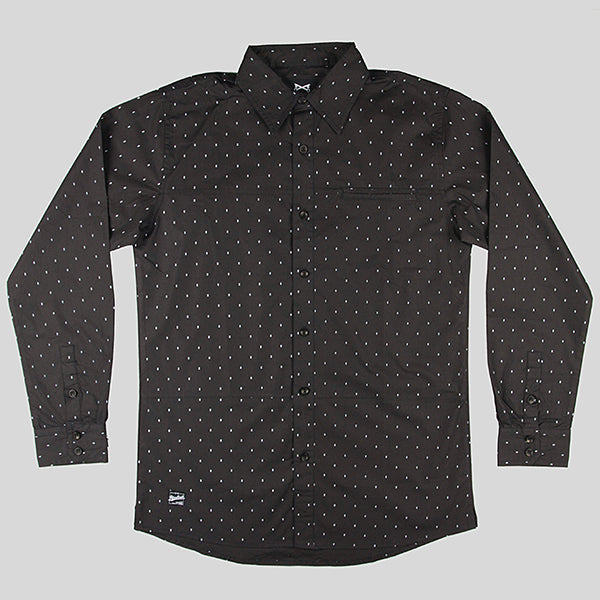 Bloodbath Locke Button Down Long Sleeve Shirt - Black - Street Lab UK - 1