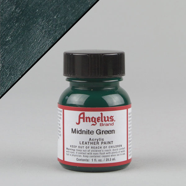 Angelus Leather Paint 1oz - Midnite Green - Street Lab UK