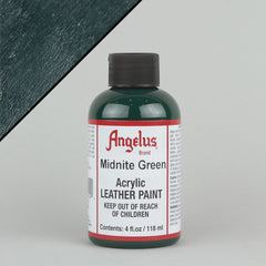 Angelus Leather Paint 4oz - Midnite Green - Street Lab UK