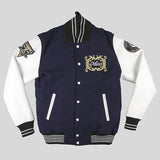 Moss Signature Varsity Jacket - Navy & White - Street Lab UK - 1